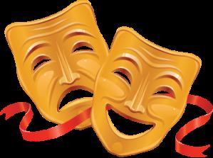 vinilo decorativo mascaras de teatro